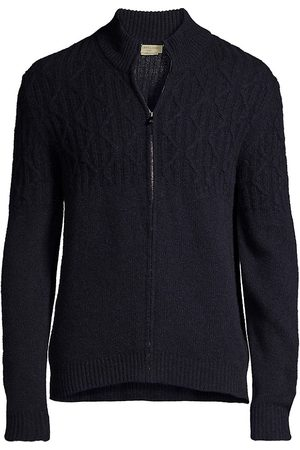 corneliani Zip-Up Cashmere Knit Sweater