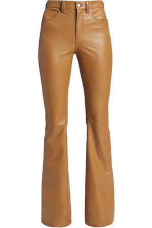 VERONICA BEARD Beverly Vegan Leather Flared Pants