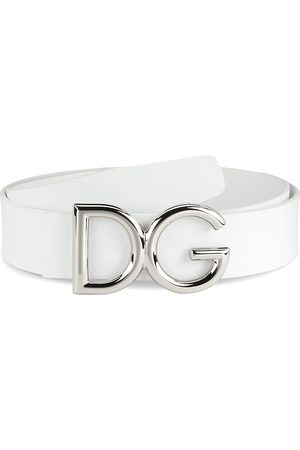 Dolce & Gabbana Leather Logo Belt