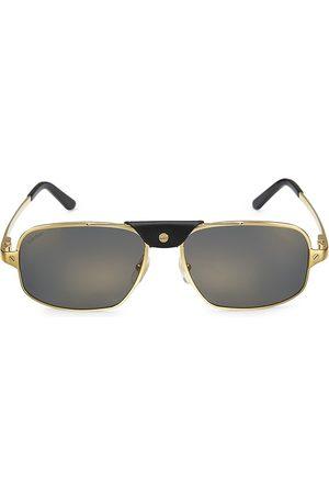 Cartier Santos 60MM Rectangular Sunglasses