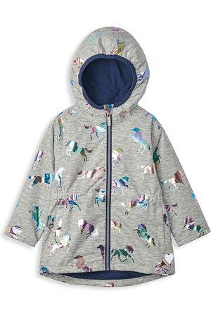 Hatley Little Girl's & Girl's Rainbow Horses Fleece-Lined Jacket