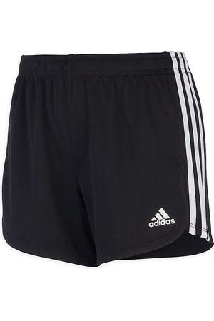 adidas Little Girl's & Girl's 3-Stripe Mesh Shorts