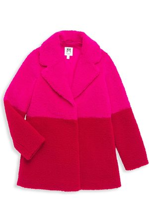 Milly Girl's Faux Shearling Colorblock Jacket