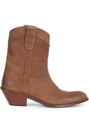 Saint Laurent Eastwood Leather Western Boots