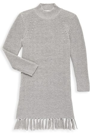 Milly Girl's Fringe Sweater Dress