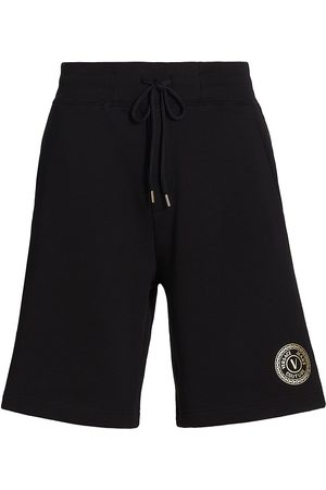 VERSACE V-Emblem Drawstring Shorts
