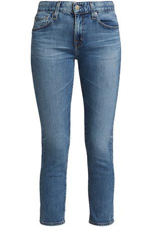AG Jeans Ex-Boyfriend Slim-Fit Cropped Jeans