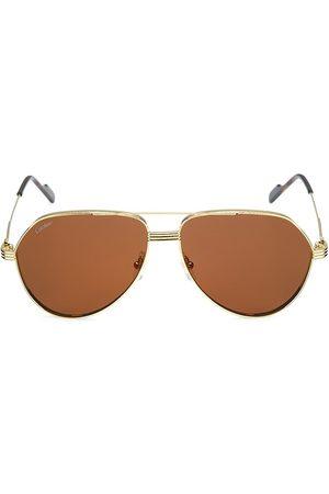 Cartier 61MM Aviator Sunglasses