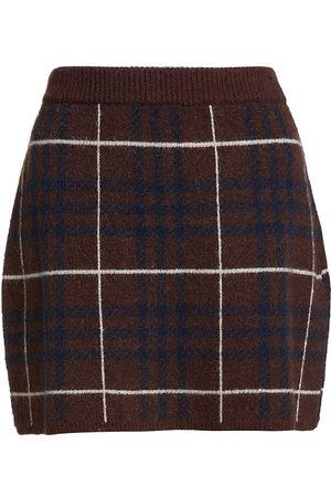 En Saison Plaid Sweater Skirt