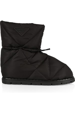 Prada Blow Quilted Drawstring Boots