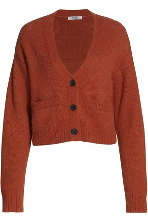 RE/DONE Wool-Blend Cropped Cardigan