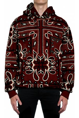AMIRI Printed Bandana Fleece Hoodie Sweatshirt