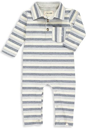 Me & Henry Baby Boy's Franklin Striped Polo Coveralls