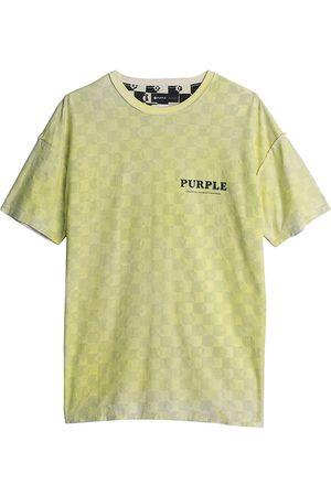 Purple Brand Checkered Monogram T-Shirt