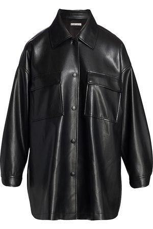 ALICE+OLIVIA Langston Vegan Leather Shirt-Jacket