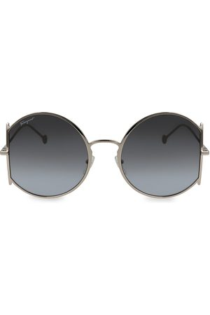 Salvatore Ferragamo Gancini 57MM Round Sunglasses