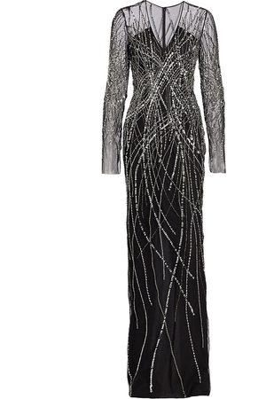 Pamella Roland Sequin & Crystal-Embellished Gown