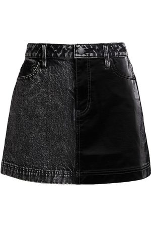 ALICE+OLIVIA Austin Vegan Leather Mini Skirt