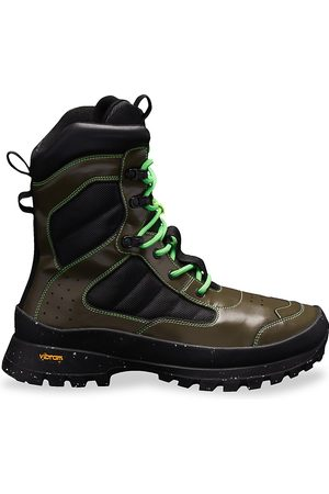 McQ In Dust In-8 Leather Tactical Boots