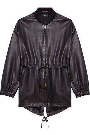THEORY Leather Anorak Jacket