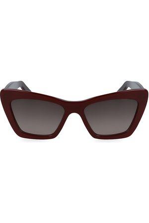 Salvatore Ferragamo Classic Logo 55MM Cat Eye Sunglasses