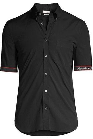 Alexander McQueen Logo Tape Short-Sleeve Shirt