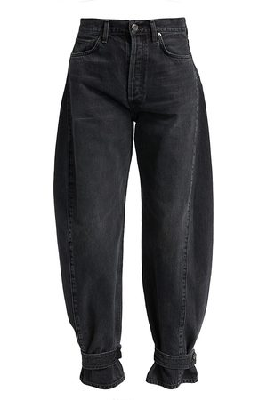 AGOLDE Cleo Cinched Wide-Leg Jeans
