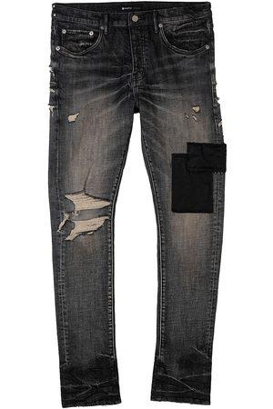 Purple Brand Distressed Five-Pocket Jeans