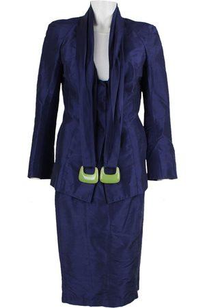 Thierry Mugler Silk skirt suit