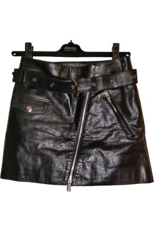 Sonia by Sonia Rykiel Leather mini skirt