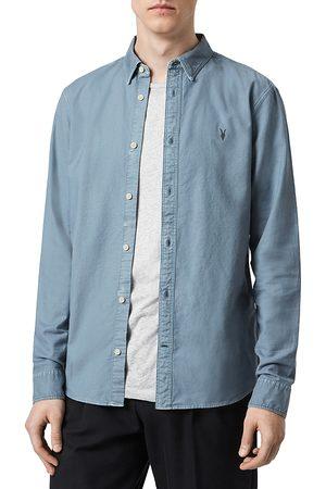 AllSaints Hungtingdon Cotton Slim Fit Button Down Shirt