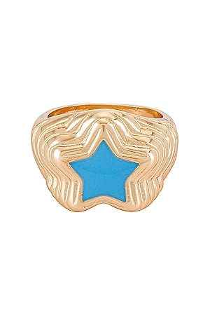 8 Other Reasons 8 Other Reason Gold Ring With Star in .