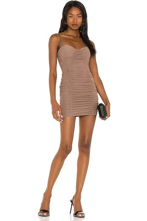 NBD Shanaya Mini Dress in Tan.