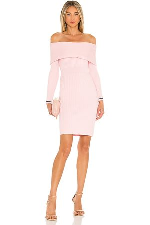 Milly Off The Shoulder Dress in Blush.