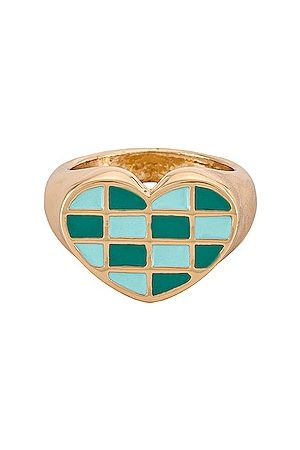 8 Other Reasons Checkered Heart Ring.