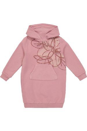 Il gufo Printed cotton hoodie dress