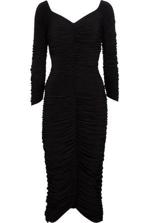 Norma Kamali Slinky off-shoulder midi dress