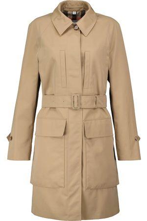 Burberry Women Rainwear - Curbridge cotton twill raincoat