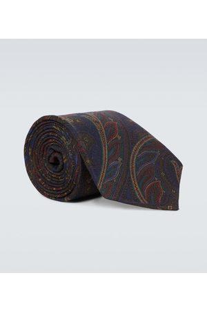 Ralph Lauren Cashmere and silk printed tie