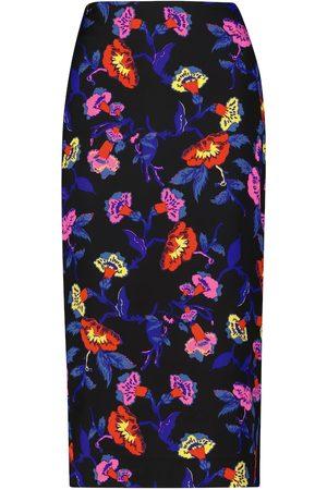 Diane von Furstenberg Kara floral stretch-cady pencil skirt