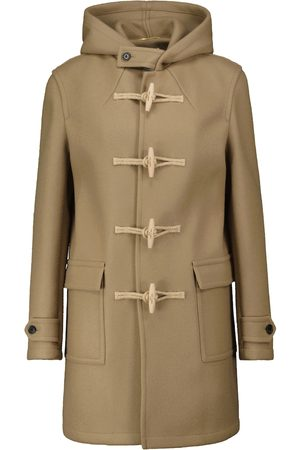 Saint Laurent Hooded wool duffle coat