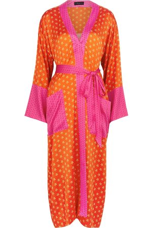 Jessica Russell Flint Women Bathrobes - Lucy's Stars printed stretch-silk robe