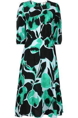 Diane von Furstenberg Women Printed Dresses - Bliss graphic print silk midi dress