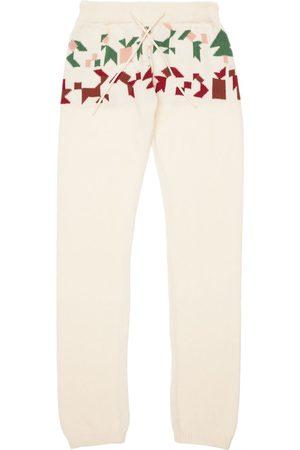 INFANTIUM VICTORIA Intarsia Organic Cotton Knit Sweatpants