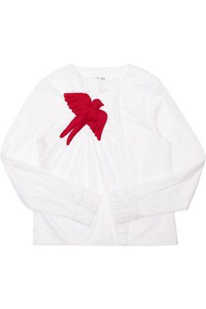 NIKOLIA Cotton Shirt W/ Bird Appliqué