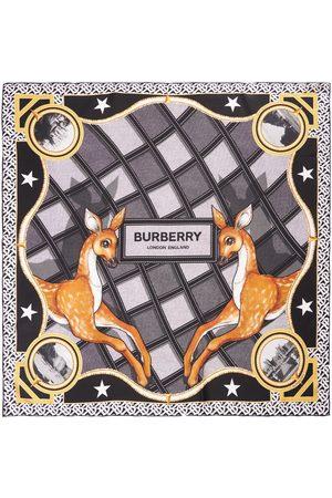 BURBERRY Printed Archive Utopia Silk Square Scarf