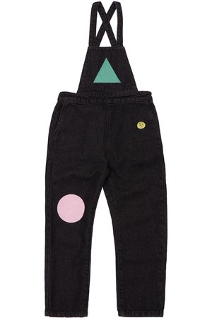 Bobo Choses Printed Recycled Blend Denim Overalls