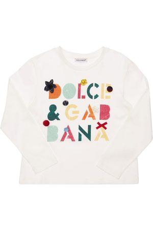 Dolce & Gabbana Printed & Embellished Cotton T-shirt