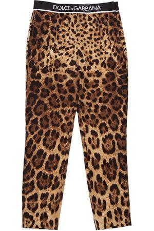 Dolce & Gabbana Leopard Print Silk Pants