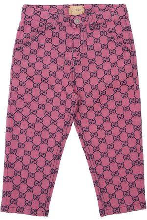 Gucci Gg Multicolor Canvas Pants
